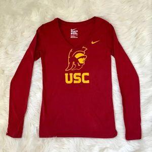 USC Trojans Nike Long Sleeve Shirt SMALL